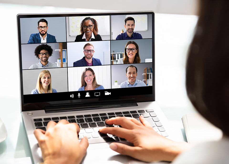 Organizational Adaptability with online meetings
